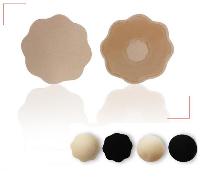 Многоразовые силиконовые наклейки на грудь стикини с тканевым покрытием. фото №1