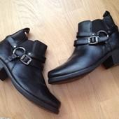 ботинки фирменные кожа