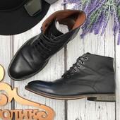 Мужские кожаные ботинки Frank Wright с высоким голенищем  SH3514