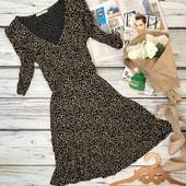 Легкое вискозное платье в ненавязчивый принт  DR3528