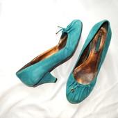 Распродажа)))Замшевые туфли Nine West 40 р. Верх из натуральной замши цвет морской волны