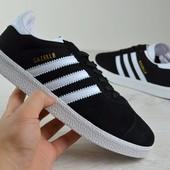 Кроссовки мужские Adidas Gazelle черные адидас газели