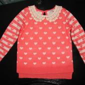 касивый свитер George 6-7 лет как новый