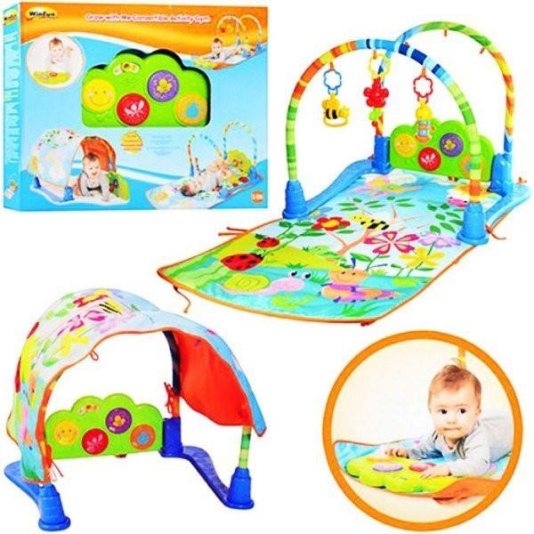 Развивающий игровой коврик для младенца М 0873 фото №1