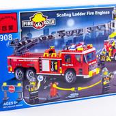 """Конструктор Brick 908 """"Пожарная техника"""" 607 деталей"""