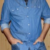 Брендовая оригинал стильная рубашка Levi's (Левис) хл .