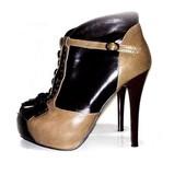 Ботинки коричневые , ботильоны коричневые 23,5см