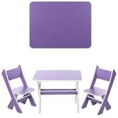 Детский столик со стульчиками Bambi Фиолетовый (М 2101-03)