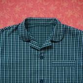 размер L, Хлопковая мужская пижама M&S, б/у. Хорошее состояние, без дефектов. Штаны - длина 100 см,