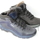 Спортивные мужские зимние ботинки, натуральный нубук