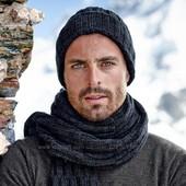 мужской длинный шарф объемной вязки, размер 25х200, Tchibo тсм (германия)