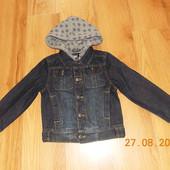 Фирменный джинсовый пиджак  для ребенка 5-7 лет, 110-122 см