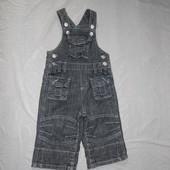 6-9 мес., р. 68-74 джинсовый ромпер полукомбинезон фирменный Mini Mode  в хорошем состоянии