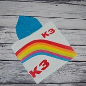 Фирменное Детское полотенце пончо махровое с капюшоном