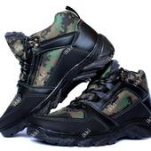Мужские камуфляжные спортивные ботинки на меху (КБ-5м)
