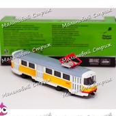 Металлический трамвай 6411 Tatra t3su, 16 см, точная копия в масштабе