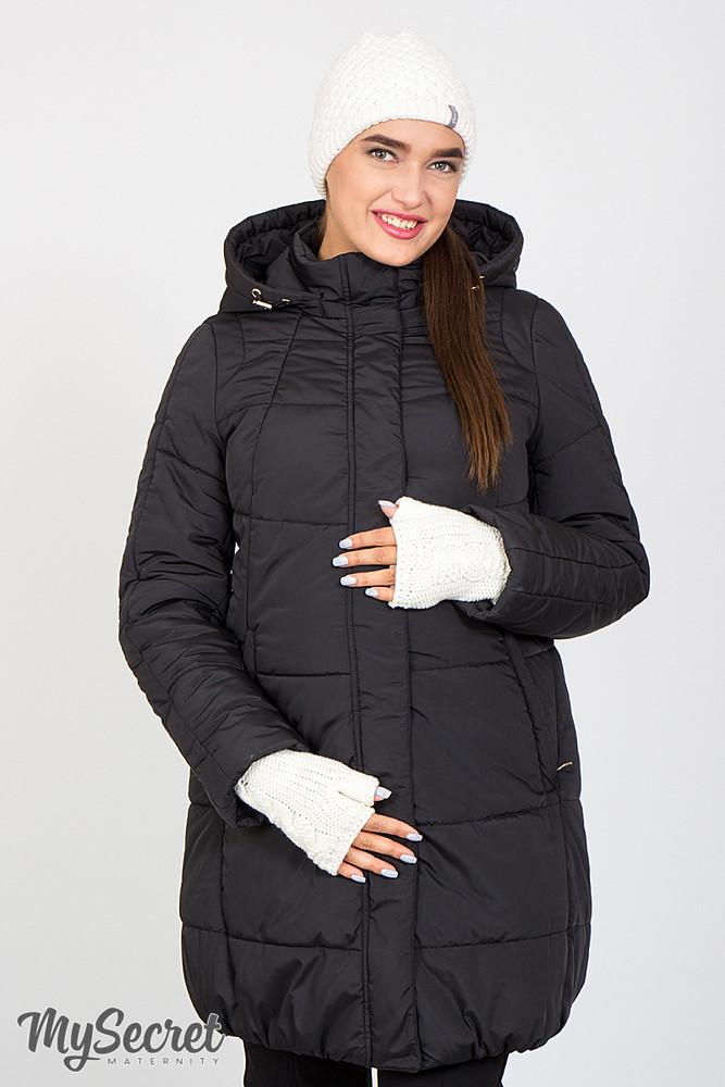 Очень теплая зимняя куртка для беременных, черная фото №1