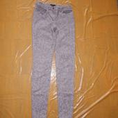 леопардовые скинни! р. 164-170, поб 40-42, H&M джинсы скинни фирменные!