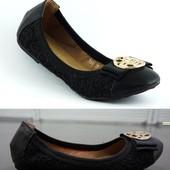 Красивые легкие балетки черного цвета