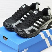 Кроссовки Adidas Marathon Flyknit black/white