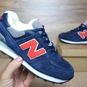 Зимние кроссовки New Balance blue/red