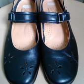 36 р. Кожаные комфортные туфли балетки для девочки