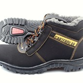 Мужские ботинки на зиму 40-45 рр - набук (АН-137)