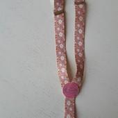 Подтяжки для девочки до 4 лет, розовые, камушки, цветочки