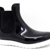 Ботинки силикон на белой подошве, на черной подошве Т002