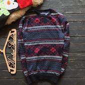 Мужской зимний свитер на флисе р-р С