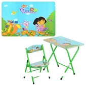Детский складной столик DT 19-12 Даша, со стульчиком