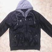 Крутая мужская куртка 48 кожзам