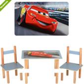 """Деревянный столик со стульчиками F062 """"Тачки"""""""