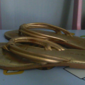 вьетнамки красивые золотые Некст 24,5 см