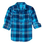 Рубашка для мальчика фланелевая
