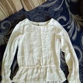 очень красивая школьная блузка h&m на 6-7 лет
