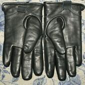 Мужские перчатки Andrew Marc New York, толстая кожа + флис, m,l(8-8,5)