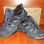Мужские кожаные кроссовки Salomon синие 40 и 43р.