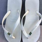 Сланцы havaianas (бразилия) вьетнамки - белые 28 см оригинал
