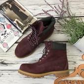 Мужские ботинки Timberland с нубуковым верхом и контрастной подошвой  SH3713