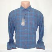 Мужская тёплая рубашка в клетку Nens, Турция. Разные цвета. Большие размеры.