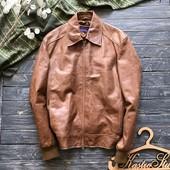 Мужская кожаная стильная куртка р-р M