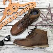 Мужские кожаные ботинки Red Tape в стиле outdoor с декоративной строчкой  SH3790