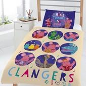 Детское постельное белье комплект 120х150 Clangers для мальчика