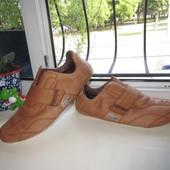 Кожаные кроссовки Lacoste 42 р