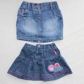 На 2-3 года. Джинсовые юбочки в садик. Состояние идеал.