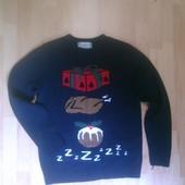Фирменная тематическая новогодняя кофта свитер M
