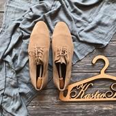 Стильные замшевые туфли дерби River Island р-р 45