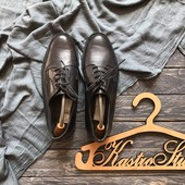 Кожаные мужские туфли дерби р-р 41