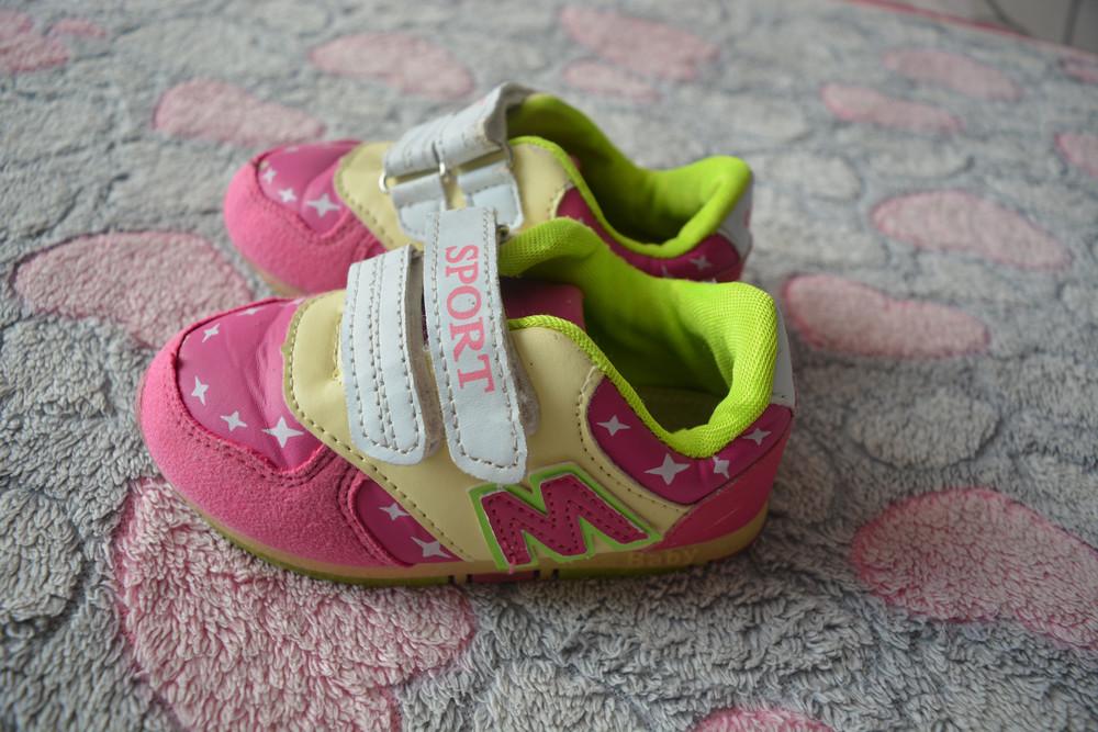 Яркие кроссовочки, стелька 15,5 см. фото №1